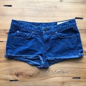 Rag & Bone Jean Short Indigo Wash 100% Cotton